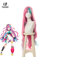 ROLECOS Anime Virtual YouTuber Cosplay Hair Pinky Pop Hepburn Cosplay Long Pink Hair