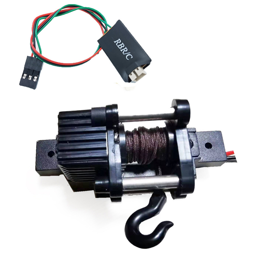 4 Channels Wireless Remote Controller Receiver Metal Winch/ WPL Winch for 1/12 1/16 WPL MN RC Car Parts Accessories