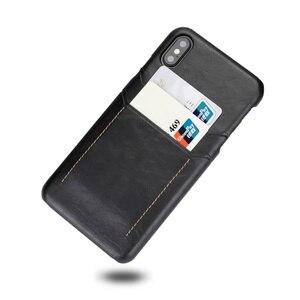 Image 5 - Retro hakiki deri arka kapak iphone için kılıf XR XS 11Pro Max 7 8 artı çift kart yuvası kılıf galaxy S8 S9 not 9 10, MYL 1V3