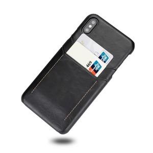 Image 5 - Ретро Натуральная кожа задняя крышка чехол для iPhone XR XS 11Pro Max 7 8 Plus двойной слот для карт чехол для galaxy S8 S9 Note 9 10, MYL 1V3