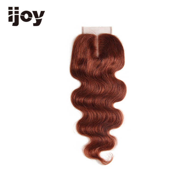 "Human Hair With 4x4 Lace Closure #1B/4/27/30/33/99J/Burgundy 8""-20"" M Non-Remy Body Wave Closure Brazilian Hair Extension IJOY"