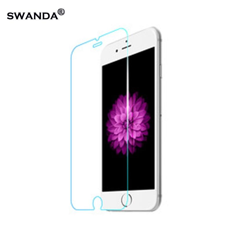 Закаленное стекло для iPhone 6, Защита экрана для iPhone 7 Plus, стеклянная пленка для iPhone SE 5, 5S, жесткая защита, X стеклянная крышка