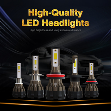 2PCS Led Lamps For Auto H4 H11 H8 H7 LED Canbus Running Lights Diode Lamp For Auto Hb3 9005 9006 Led Headlight Bulbs Fog Lights