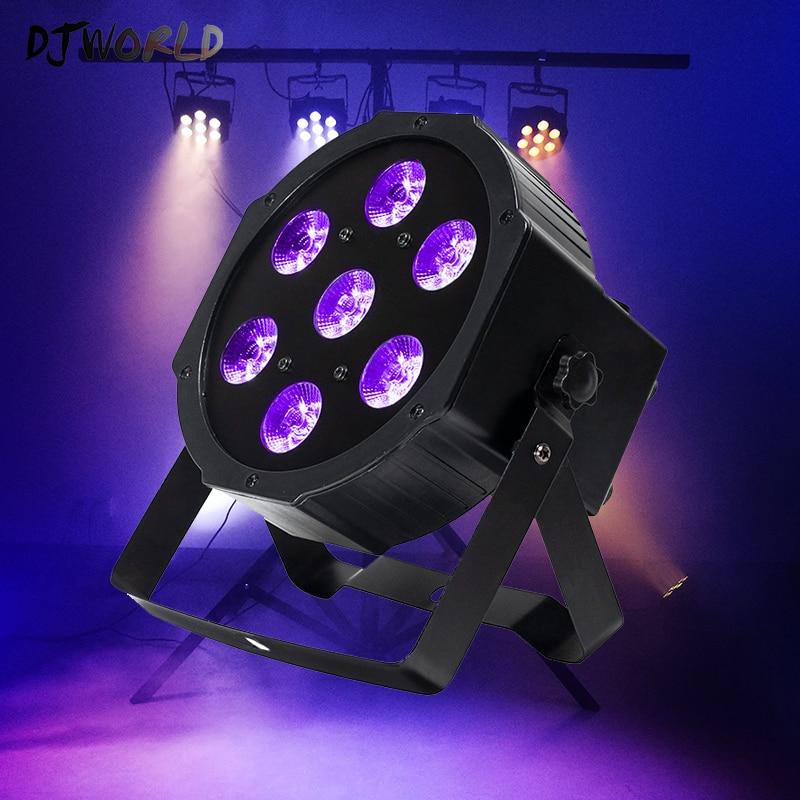 7 LED Chip 18W Lamp Beads 7x18W Led Par Lights RGBWA UV 6in1 Flat Par Led DMX512 Disco Lights Professional Stage DJ Equipment