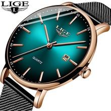 Luik Mode Heren Horloges Topmerk Luxe Blauw Waterdichte Horloges Ultra Dunne Datum Eenvoudige Casual Quartz Horloge Mannen Sport Klok
