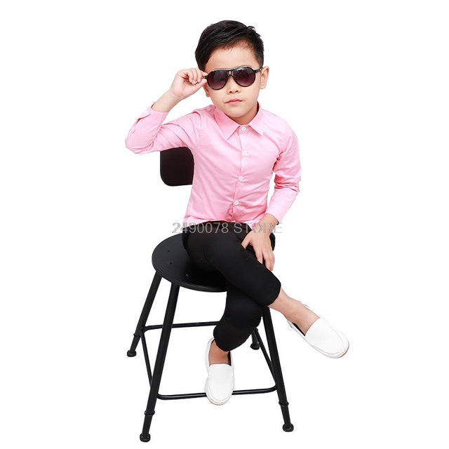 Shirts For Boys Brand Spring Autumn Kids Cotton Casual Shirts Children Blouse Clothing Boys Teenage Sports School Uniform Shirts 1