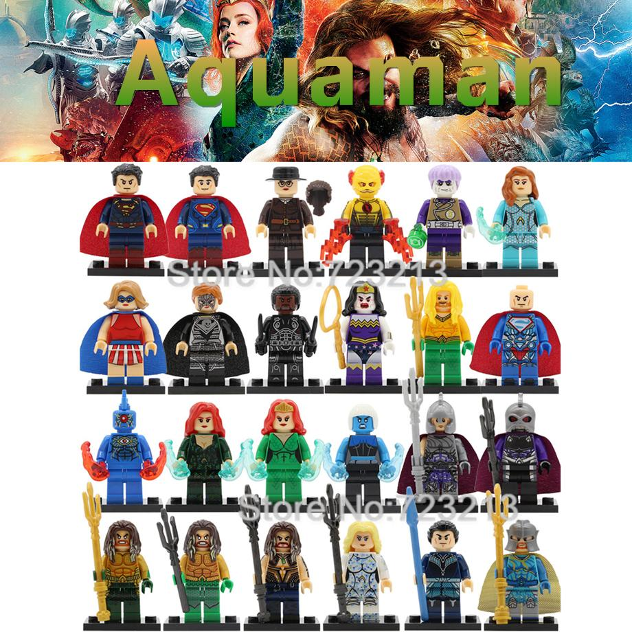 DC Super Hero Figure Luther Superman Mera Brother Eye Wonder Woman Aquaman Killer Frost Building Blocks Set Brick Toys Legoing