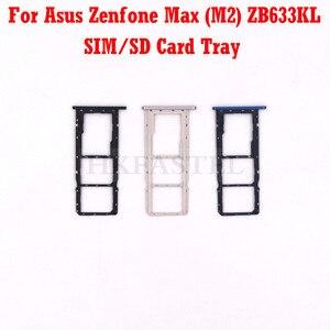 Для Asus Zenfone Max (M2) ZB633KL новая оригинальная SIM SD карта лоток крышка Кнопка питания громкости объектив камеры