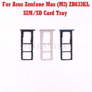 Новый оригинальный ZB633KL корпус для Asus Zenfone Max (M2) ZB633KL SIM SD карта лоток крышка Запасная часть