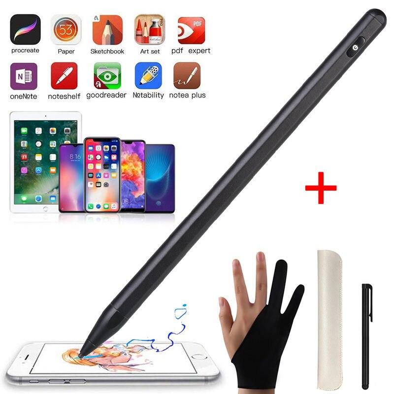 Evrensel Stylus Kalem Ekran Kapasitif Dokunmatik Kalem Için IPad Pro 12.9 10.5 9.7 IOS Android Tablet Kalem Için Ince Ucu IPhone Huawei