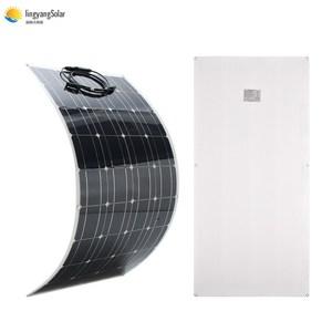 Image 1 - 중국 새로운 태양 전지 100w 패널 태양 박막 유연한 태양 전지 패널 공장 가격 200w 300w 2pcs 3pcs 100w