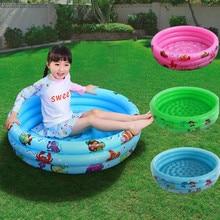 цена на Indoor Outdoor Baby Swimming Pool Inflatable Children Basin Bathtub Kids Round Pool Baby Ocean Ball Pool Toys For Children