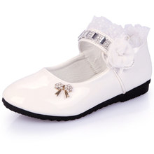 Fashion Flower Baby Leather Shoes Kids Little Girls Party Dr