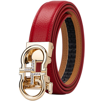 WilliamPolo 2021 new style Genuine leather WoMen Belt Fashion alloy high quality luxury cowhide casual business Automatic Buckle 1