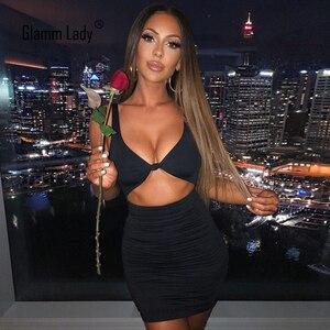 Glamm Lady Party seksowna letnia sukienka damska Mini biała sukienka klubowa Backless w stylu Casual, czarny obcisła sukienka Hollow Out solidna Vestido 2021