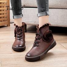 Comfortable Shoes Boots Sunflower-Printed Winter Fashion Genuine-Leather Women S65506