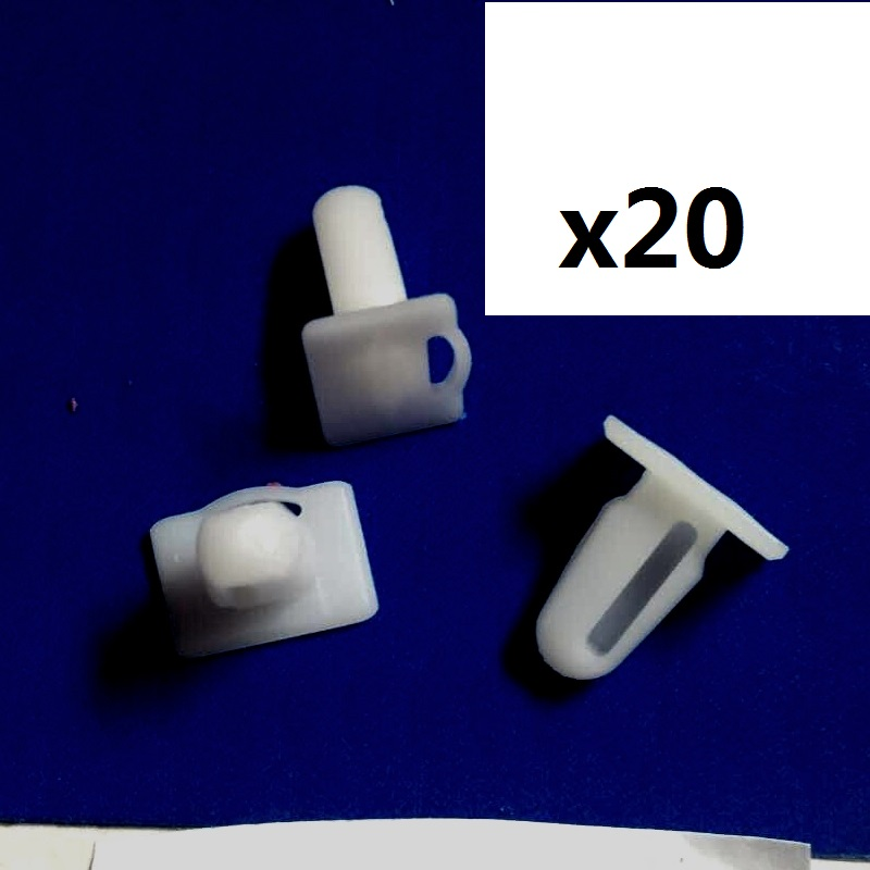 20 Pieces Door Sill Plate Side Moulding Clip for <font><b>BMW</b></font> <font><b>E21</b></font> <font><b>E30</b></font> E36 OE 51471840960 image
