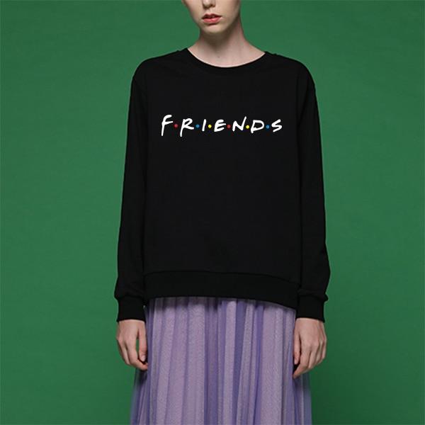 Friends Sweatshirt Women Oversize Swetshirt Hoody Ladies Pullover Autumn Clothing Black Harajuku Japanese Style Fashion