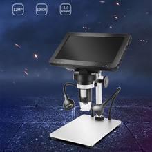 1200x 7 polegada microscópio digital lupa para reparação de solda com controle de fio w8ea