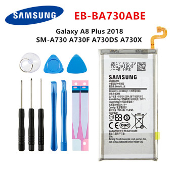 SAMSUNG Orginal EB-BA730ABE 3500mAh Battery For Samsung Galaxy A8 Plus A8+ (2018) SM-A730 A730F A730DS A730X +Tools чехол для samsung galaxy a8 2018 sm a730f ds neon flip cover ef fa730pfegru золотистый