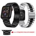 Новый ремешок для часов для Apple watch серии 5 44 мм 40 мм ремешок металлический браслет для iWatch 4 3 2 42 мм 38 мм Сменные аксессуары