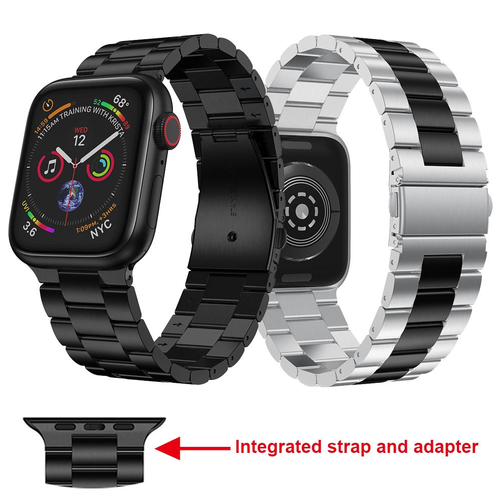 New Watchband Band For Apple Watch Series 5 44mm 40mm Strap Metal Link Bracelet For IWatch 4 3 2 42mm 38mm Replace Accessories