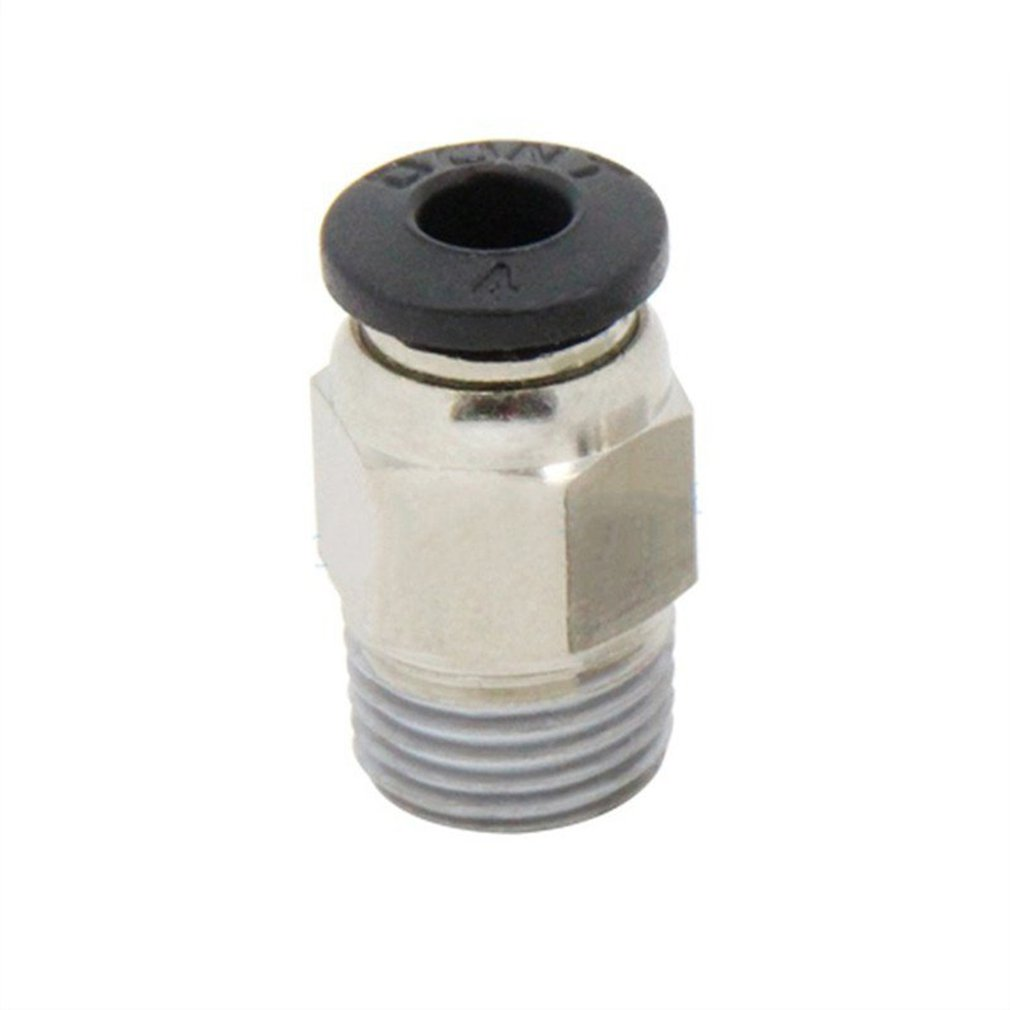 For V6 3D Printer Metal Straight Teflon Tube Push In Quick Release Fitting Connector Is Used To Teflon Ptfe Tubing Connecting.