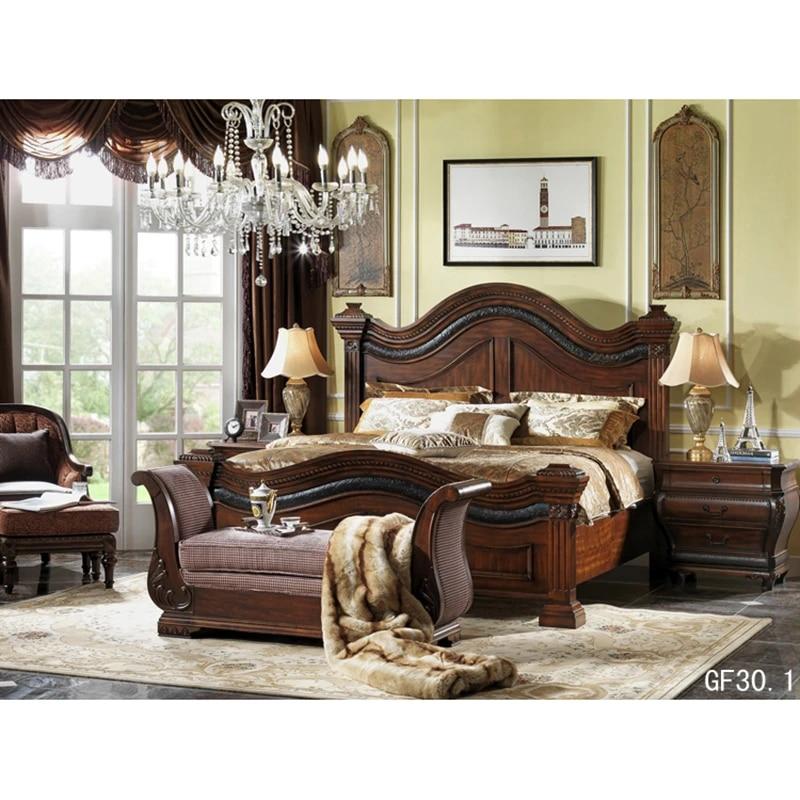 America Style Bedroom Furniture King Bed Mebel Dlya Spalni V Stile Ameriki Gf30 1 Beds Aliexpress