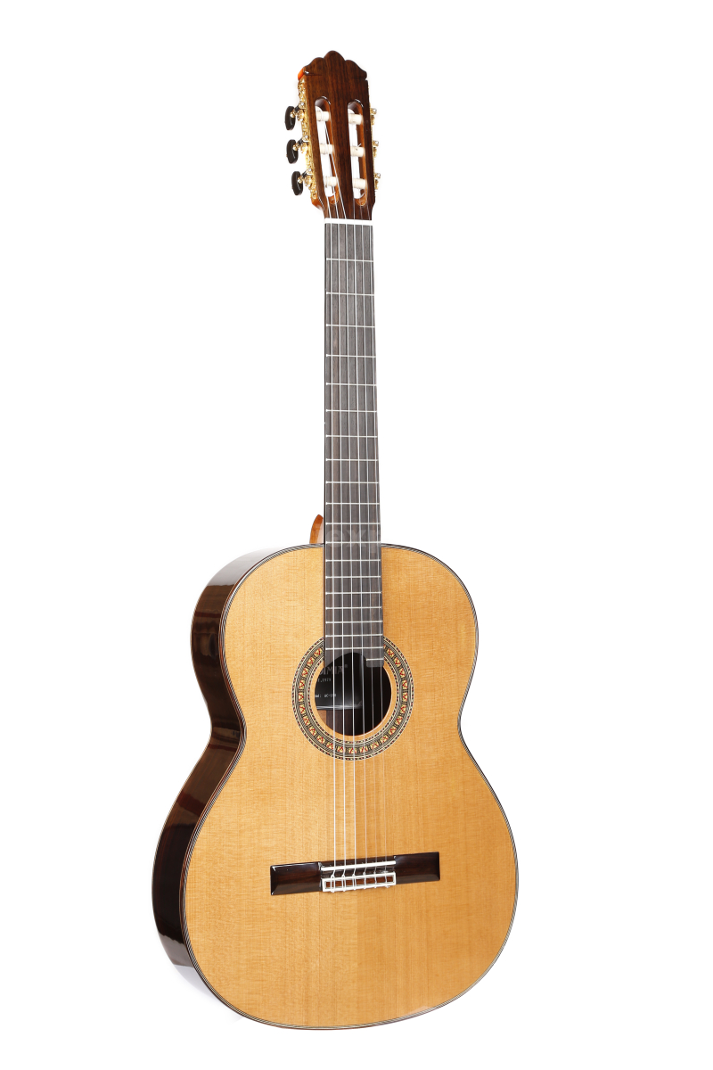 Professional Handmade 39 inch Full Solid Acoustic Classical guitar With Cedar Top/ Solid Rosewood Body +Hard case,Gloss,AC-150C