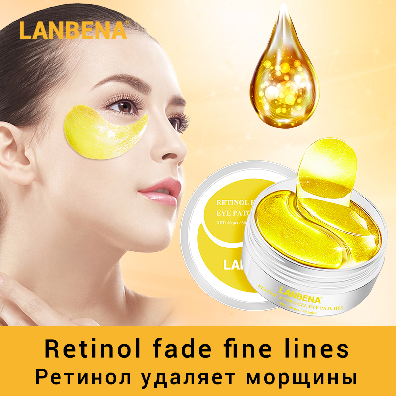 LANBENA Eye Mask Collagen Eye Patch Skin Care Hyaluronic Acid Gel Moisturizing Retinol Anti Aging Remove Dark Circles Eye Bag