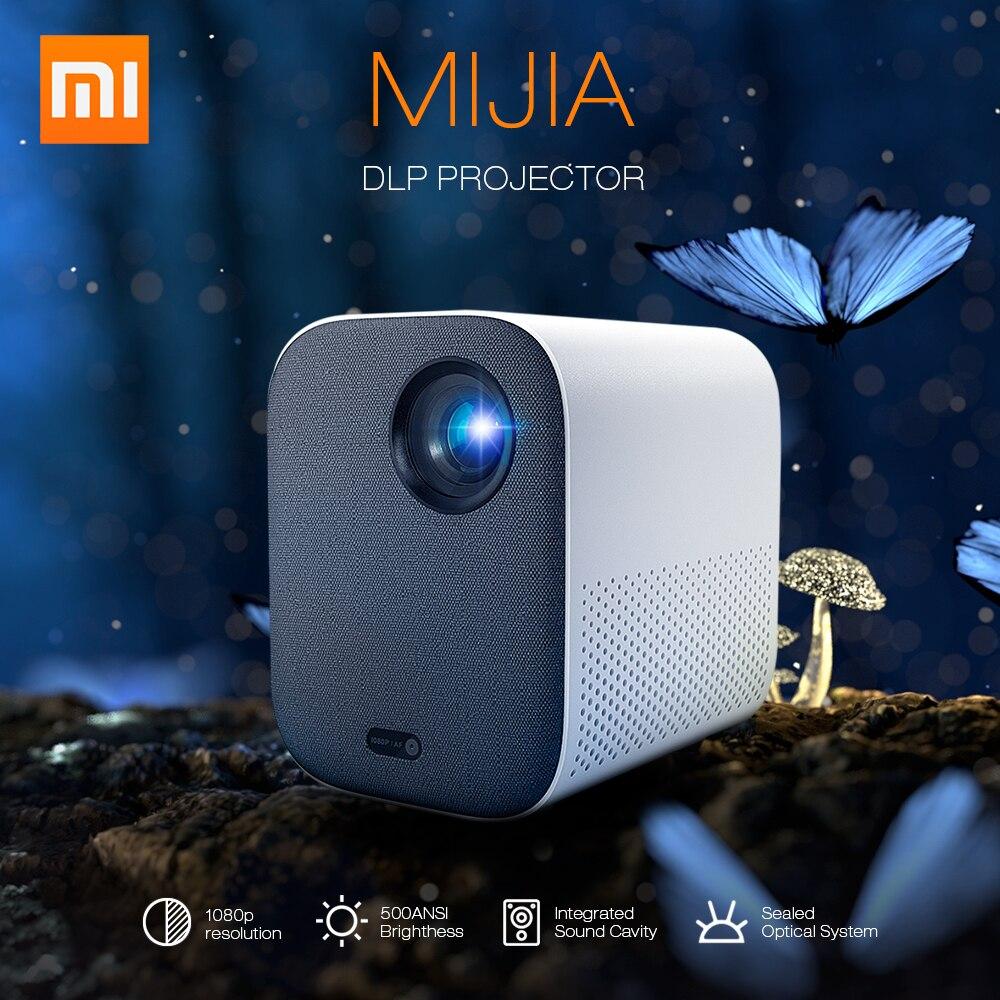2019 Xiaomi Mijia Mini projecteur DLP 1080P Full HD AI télécommande vocale 500ANSI 4K vidéo 3D WIFI Proyector projecteur Portable