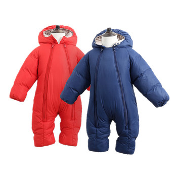 2020 Baby Winter Romper For Newborn Girl Boy Clothes Toddler Baby Jumpsuit Overalls Thick Warm Baby Girl Rompers Infant Clothing 2020 newborn baby winter hoodie clothes boys baby clothing girl 9m 24m boy jumpsuit christmas baby romper warm clothing for kids
