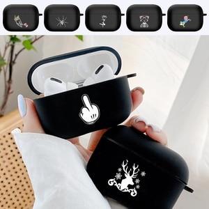 Image 1 - ซิลิโคนสำหรับ Airpods Pro แบบเรียบง่ายพิมพ์ลายป้องกันหูฟังสำหรับ Air Pods Pro 3หูฟัง Airpods Fundas