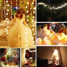 3m 20 LEDs Cotton Ball Light Lamp fantastic Outdoor Christmas Wedding Party walls window doors floors xams trees grasses Decor(China)