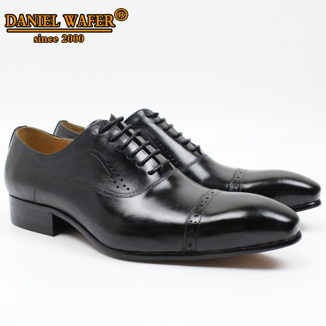 GENUINE LEATHER OXFORD DRESS SHOES  3