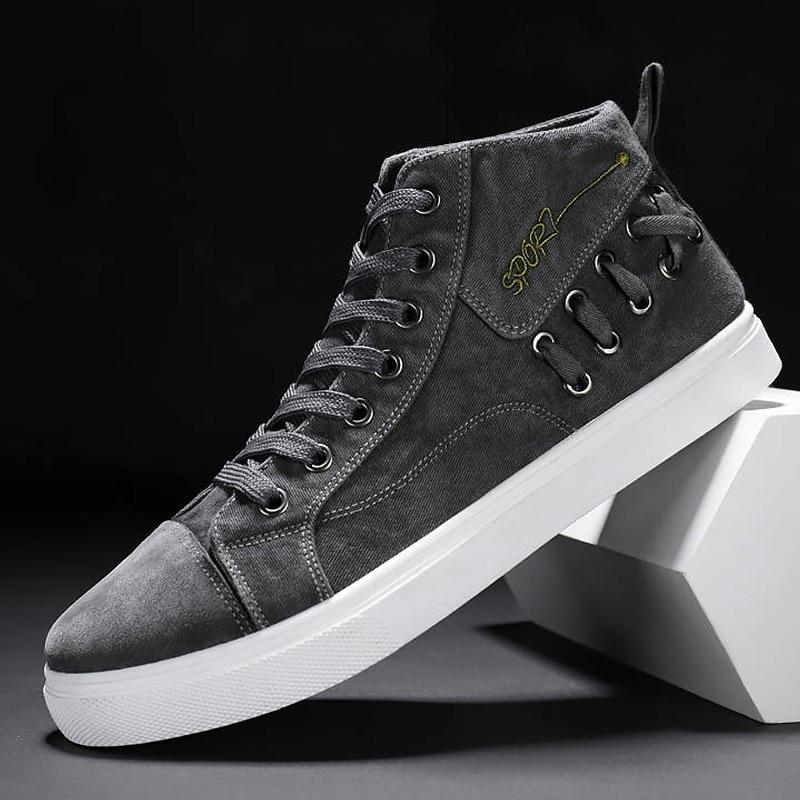 High Top Sneakers Men Canvas Shoes men