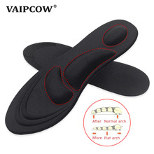 Buy 4D Stretch Breathable Deodorant Running Cushion Insoles For Feet Man Women Insoles For Shoes Sole Orthopedic Pad Memory Foam directly from merchant!