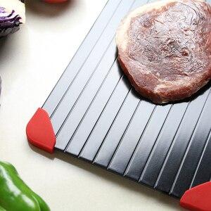 Image 5 - Быстрое устройство для размораживания, поднос для размораживания мяса, фруктов, еды, быстрое устройство для размораживания (в комплекте 4 защитных угла)