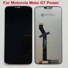 100% מקורי בדיקה עבור מוטורולה Moto G7 כוח LCD תצוגת מסך מגע חיישן לוח Digiziter עצרת 6.2 עבור Moto g7power