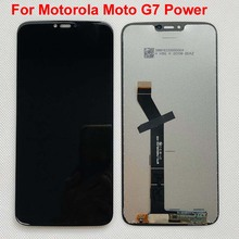 100% Original TEST สำหรับ Motorola Moto G7 Power จอแสดงผล LCD หน้าจอสัมผัสแผงเซนเซอร์แท่นพิมพ์ ASSEMBLY 6.2 สำหรับ Moto g7power