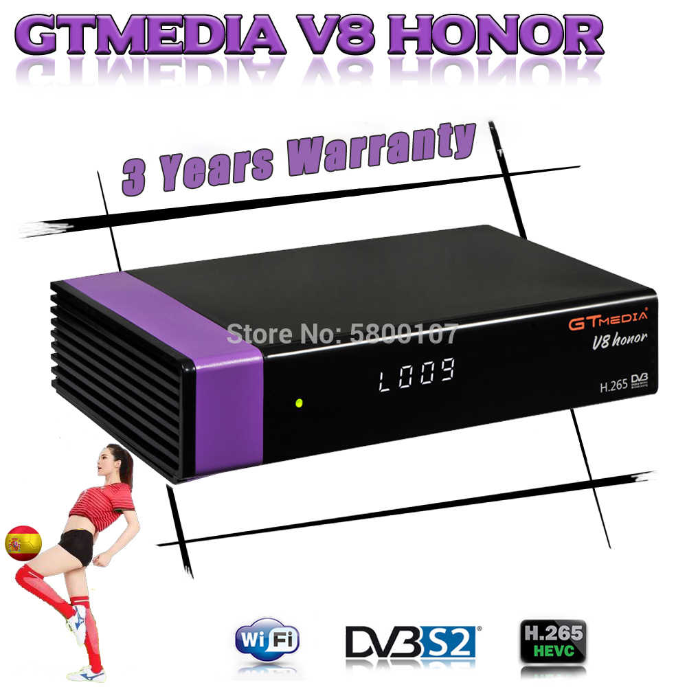 DVB-S2 Gtmedia V8 Honor ricevitore satellitare Full HD GT Media V8 Honor Costruito in wifi aggiornato da GTmedia V8 nova v9 super