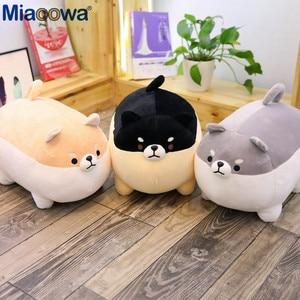Image 5 - Yeni 40/50cm sevimli Shiba Inu köpek peluş oyuncak dolması yumuşak hayvan Corgi Chai yastık noel hediyesi çocuklar için Kawaii sevgililer günü