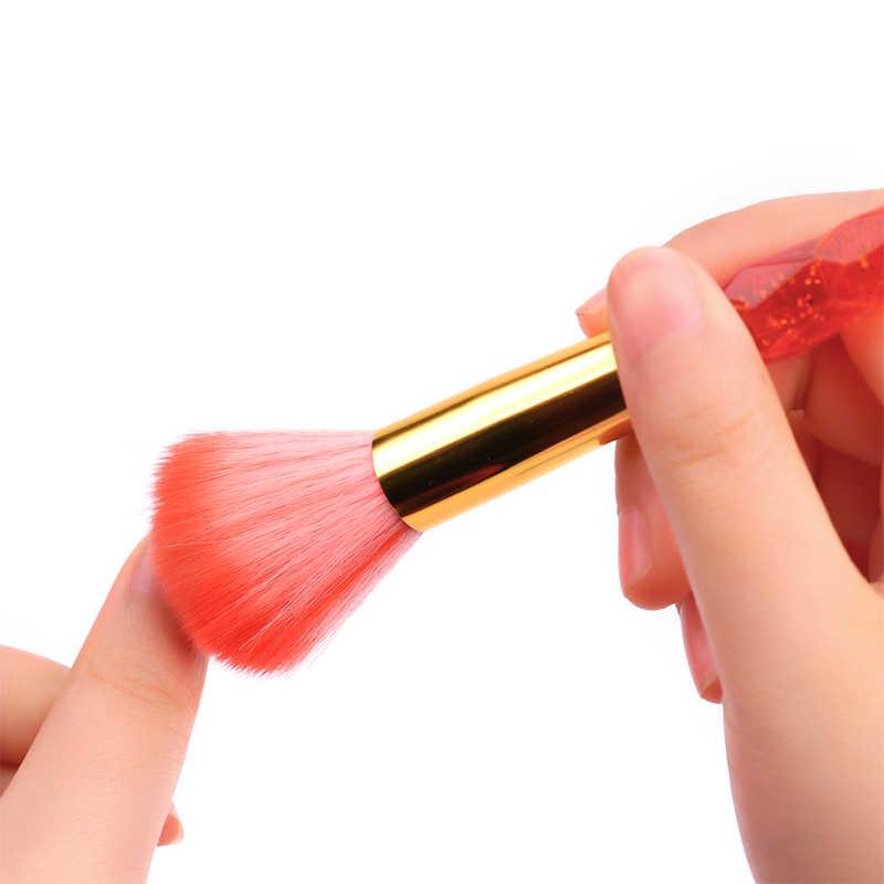 5 цветов, инструмент для ногтей, кисть для пудры, щетка для чистки, мягкая удаляющая пыль, очиститель порошка, уход за ногтями, маникюр