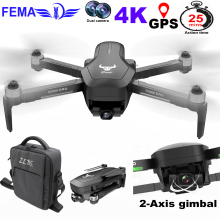 цена на FEMA SG906PRO Professional GPS Drones with Camera HD 4K 5G WiFi FPV 1200M 2-axis Gimbal Drone Brushless RC Quadcopter VS X12
