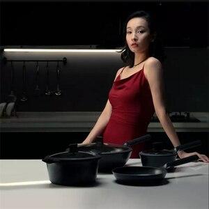 Image 5 - Huohouテフロン加工スーパープラチナフライパン中華鍋ストックポットミルクパン耐久性のあるきれいに簡単に高温度リマインダーキッチンc
