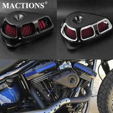 Motorcycle Air Cleaner Filter Multi Angle Filter Kits For Harley Sportster XL883 Touring Electra Glide Road Glide Dyna Fatboy