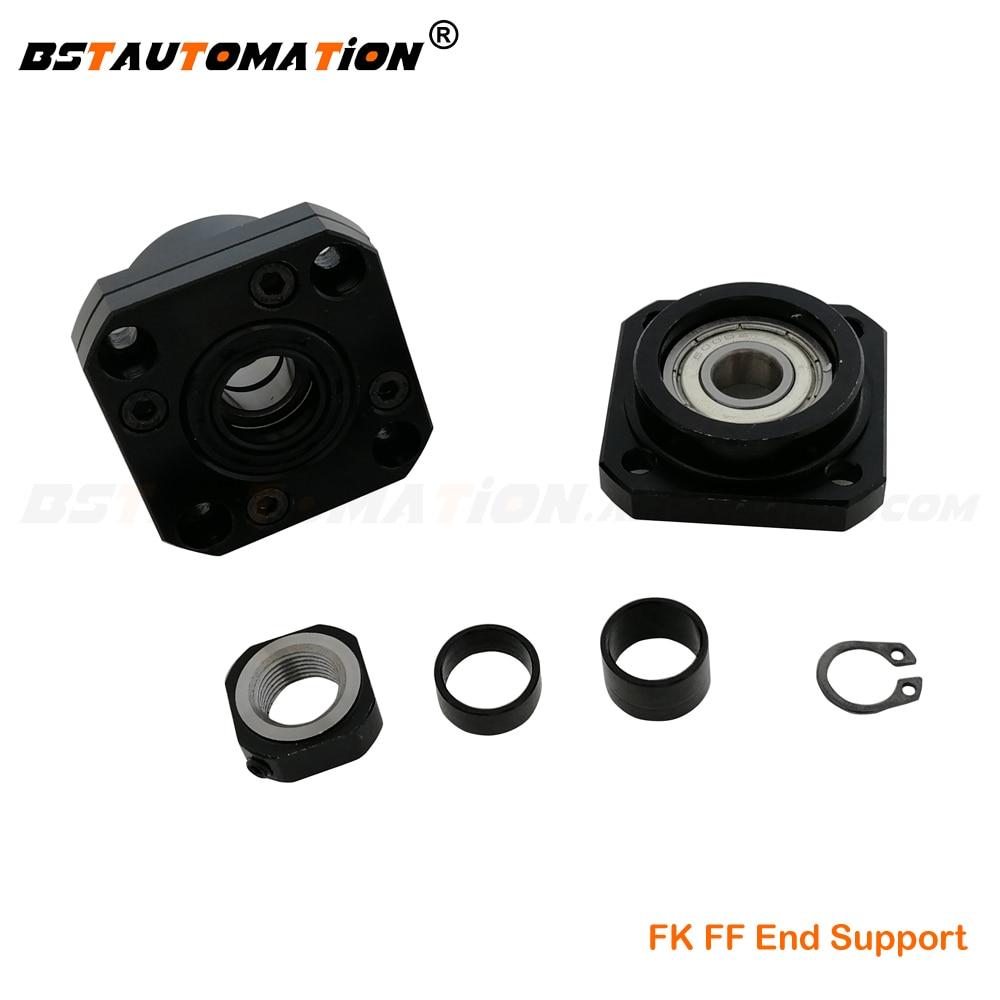 Ball Screw End Support FK10 FF10 FK12 FF12 FK15 FF15 FK20 FF20 Support Bearing Block Unit For Ball Screw