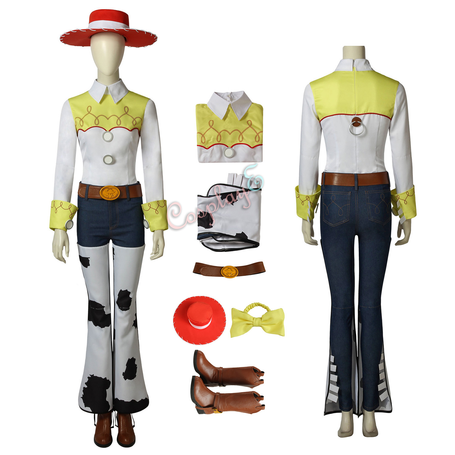 Jessie Costume Toy Story Cosplay Party Full Set