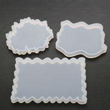 2019 New DIY Irregular Coaster Mould UV Resin Crystal Epoxy Molds High Mirror Ornaments Decoration Moulds