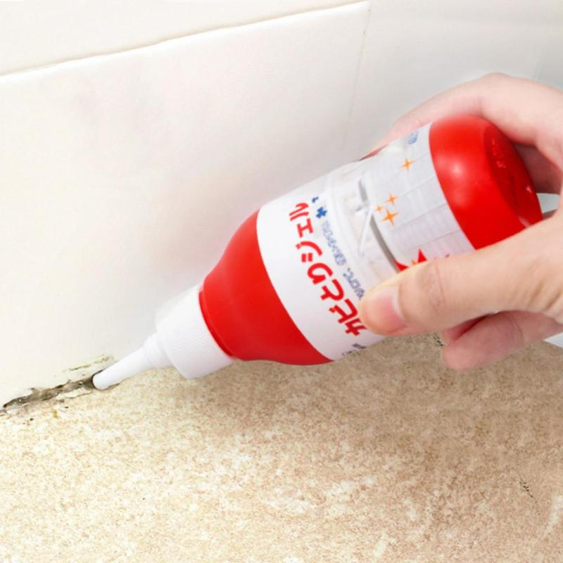 1Pc Wall Tile Seam Mildew Remover Bathroom White Wall Mold Cleaning Gel Household Toilet Stain Remover Car Clean Surfactant